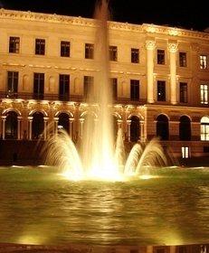 Springbrunnen, Schloss, Nacht