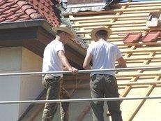 Dachdeccer, Arbeit, Dach, Baustelle