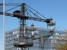 Duisburg, Innenhafen, Architektur, Kran