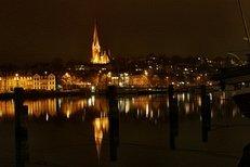 Flensburg, Hafen, Nacht