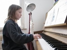 Klavier, Klavierunterricht, Kind, Noten, Musikinstrument