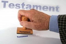 Testament, Stempel, Notar