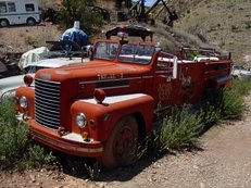 US Firetruck, Arizona, Schrottplatz, verrostet