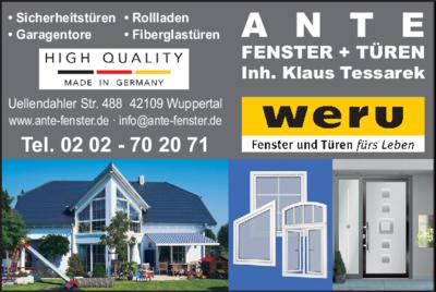 Garagentore Wuppertal ante fenster und türen 42109 wuppertal elberfeld öffnungszeiten