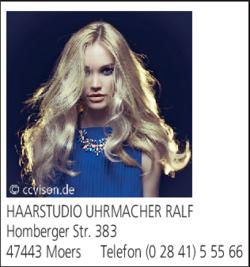 Haarstudio Uhrmacher 47443 Moers Scherpenberg öffnungszeiten