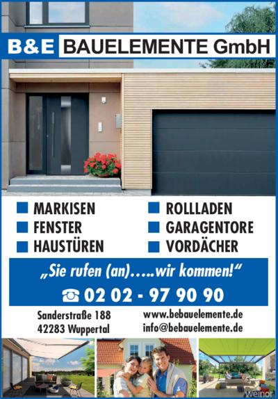 Garagentore Wuppertal b e bauelemente gmbh 42283 wuppertal barmen adresse telefon