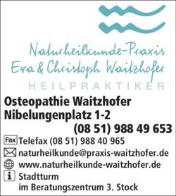 Osteopathie Waitzhofer 94032 Passau-Haidenhof-Süd Adresse