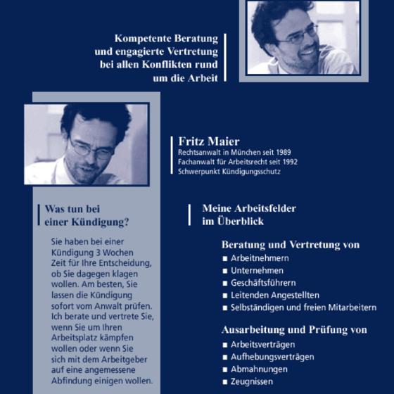 Kanzlei Für Arbeitsrecht Fritz Maier 80796 München Schwabing West
