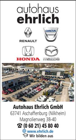 Autohaus Ehrlich Aschaffenburg