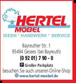 Hertel Möbel 95494 Gesees Forkendorf öffnungszeiten Adresse