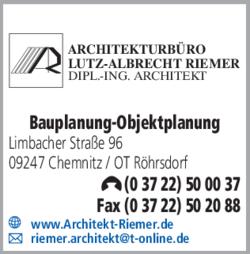 09247 Chemnitz Ot Röhrsdorf architekturbüro lutz albrecht riemer 09247 chemnitz röhrsdorf