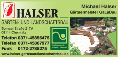 Garten Und Landschaftsbau Chemnitz halser michael 09114 chemnitz glösa draisdorf adresse telefon
