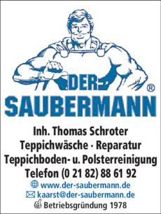 Anzeige DER SAUBERMANN