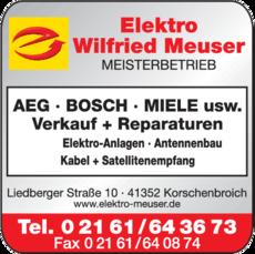 Anzeige Elektro Meuser Wilfried GmbH