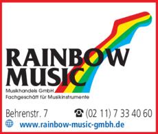 Anzeige Rainbow Music Musikhandels GmbH