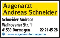 Anzeige Schneider, Andreas