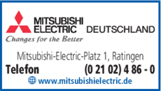 mitsubishi electric europe b.v. in ratingen ⇒ in das Örtliche