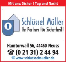 Anzeige Schlüssel Müller