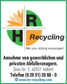 Anzeige H + R Recycling GmbH