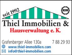 Anzeige Hausverwaltung Thiel Immobilien & Hausverwaltung e.K.