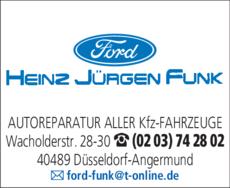 Anzeige Autoreparaturen FORD FUNK