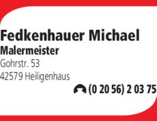 Anzeige Fedkenhauer