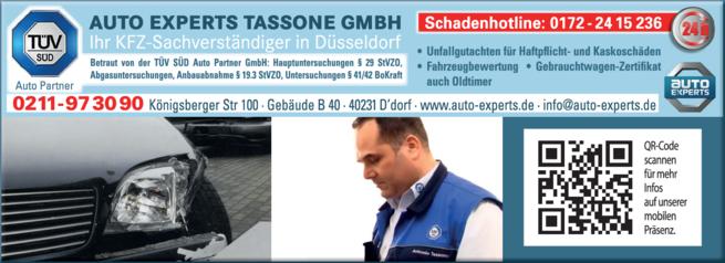 Anzeige Sachverständige Auto Experts Tassone GmbH
