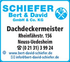 Anzeige Bert & David Schiefer