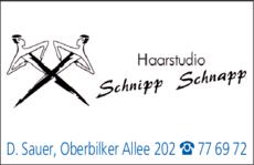Anzeige Haarstudio Schnipp-Schnapp