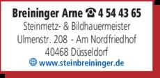 Anzeige Grabmale Breininger
