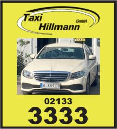 Anzeige Taxi Hillmann