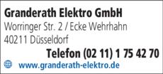 Anzeige Granderath Elektro GmbH