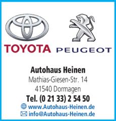 Anzeige Autohaus Heinen