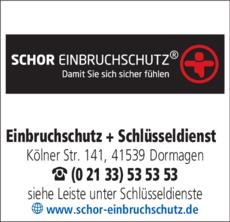 Anzeige Schor