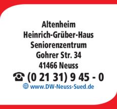Anzeige Altenheim Heinrich-Grüber-Haus