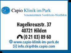 Anzeige Capio Klinik im Park