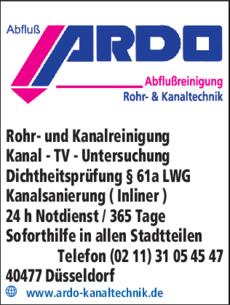Anzeige A. Abbau Abfluß Ardo