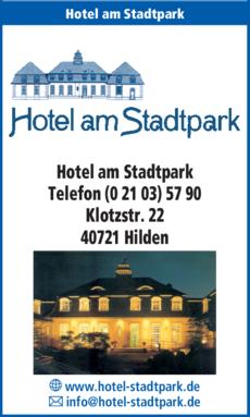 Anzeige Hotel am Stadtpark