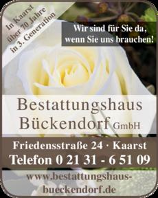 Anzeige Bestattungshaus Bückendorf