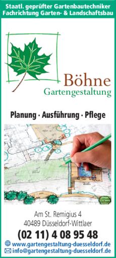 Garten Und Landschaftsbau Böhne In Düsseldorf In Das örtliche