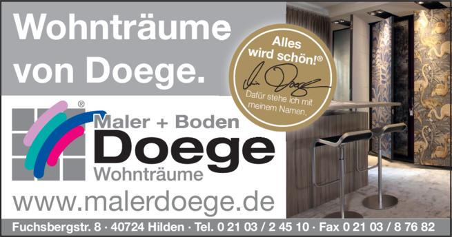 Anzeige Doege GmbH