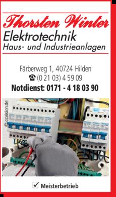 Anzeige Elektrotechnik Winter Thorsten