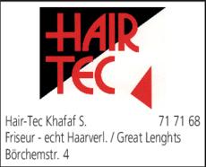 Anzeige Hair-Tec Khafaf S.