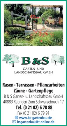 Anzeige B & S Garten- und Landschaftsbau GmbH