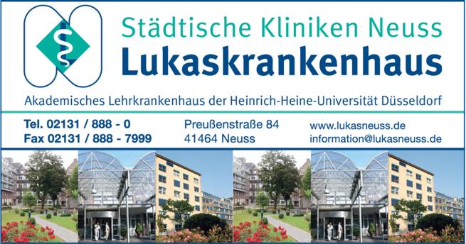 Anzeige Lukaskrankenhaus GmbH