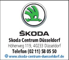 Anzeige Skoda Centrum Düsseldorf