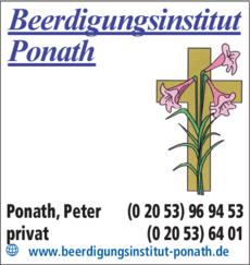 Anzeige Ponath Peter