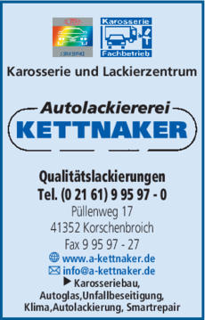 Anzeige Autolackiererei Kettnaker