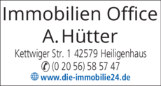 Anzeige Immobilien-Office Hütter