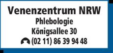 Anzeige Venenzentrum NRW